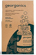"""Voňavky, Parfémy, kozmetika Tabletky na čistenie zubov """"Anglická mäta"""" - Georganics Natural Toothtablets English Peppermint (vymeniteľná jednotka)"""