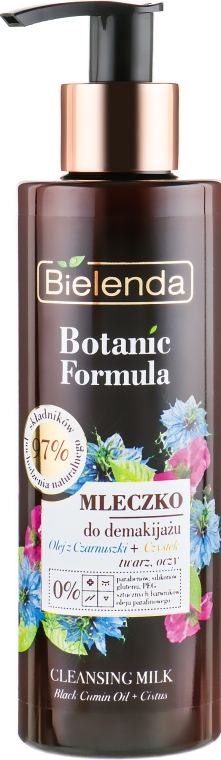 Mlieko na odstraenia make-upu - Bielenda Botanic Formula Black Seed Oil Cistus Cleansing Milk