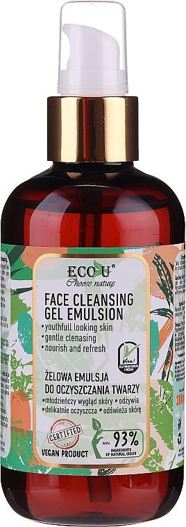 Gélová emulzia na čistenie tváre - Eco U Face Cleansing Gel Emulsion