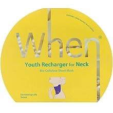 Voňavky, Parfémy, kozmetika Biocelulózová protistarnúca maska na krk - When Youth Recharger For Neck Bio-Cellulose Mask