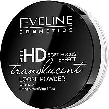 Voňavky, Parfémy, kozmetika Fixujúci a matujúci sypký púder s hodvábom - Eveline Cosmetics Full HD Soft Focus Translucent Loose Powder