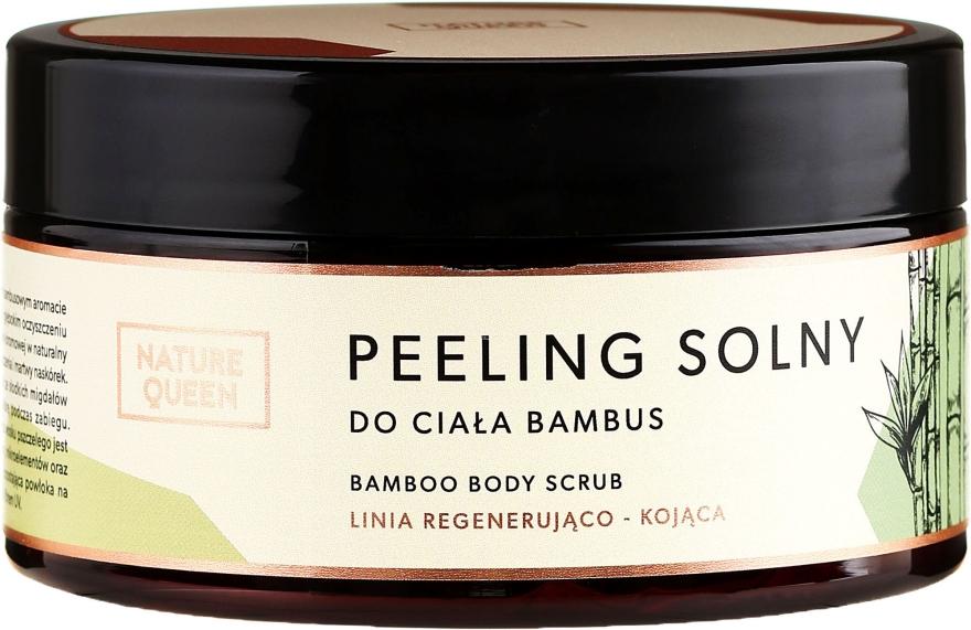 "Soľ telový peeling ""Bambus"" - Nature Queen Body Scrub"