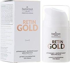 Voňavky, Parfémy, kozmetika Lifting-krém na pleť okolo očí - Farmona Retin Gold Lifting & Illuminating Eye Cream