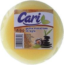 Voňavky, Parfémy, kozmetika Špongia do kúpeľa okrúhla, žlto-biela - Cari