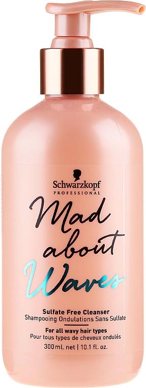 Bezsulfátny šampón pre vlnité vlasy - Schwarzkopf Professional Mad About Waves Sulfate Free Cleanser