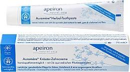 Voňavky, Parfémy, kozmetika Homeopatické zubné pasty - Apeiron Herbal Toothpaste Homeopathic