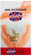Voňavky, Parfémy, kozmetika Reťaz na ozdobenie nechtov, 00375, zlatá - Ronney Professional
