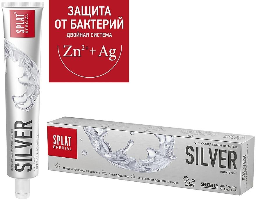 Antibakteriálna osviežujúca zubná pasta na jemné zosvetlenie skloviny - SPLAT Special Silver — Obrázky N2