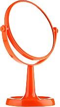 Voňavky, Parfémy, kozmetika Zrkadlo na stojane 85734 okrúhle, 15,5 cm, oranžové - Top Choice Colours Mirror
