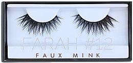 Voňavky, Parfémy, kozmetika Falošné mihalnice č. 12 - Huda Beauty Faux Mink Lash 12 Farah