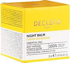 Voňavky, Parfémy, kozmetika Vyhladzujúci balzam na tvár - Decleor Green Mandarin Glow Night Balm