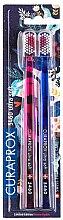 Voňavky, Parfémy, kozmetika Sada zubných kefiek CS 5460, ultra mäkká, ružová + modrá - Curaprox Ultra Soft Duo Love Edition