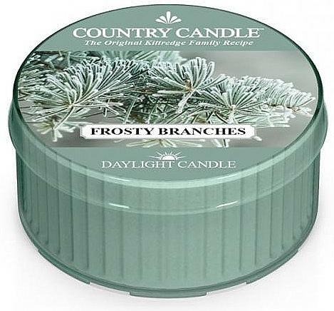 """Čajová sviečka """"Mrazivé konáre"""" - Country Candle Frosty Branches Daylight — Obrázky N1"""