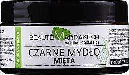 """Voňavky, Parfémy, kozmetika Prírodné čierne mydlo """"Mäta"""" - Beaute Marrakech Savon Noir Moroccan Black Soap Mint"""