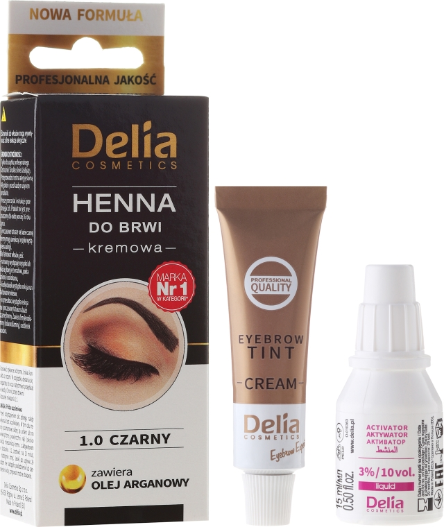 Krém-farba na obočie - Delia Cosmetics Cream Eyebrow Dye