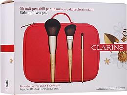Voňavky, Parfémy, kozmetika Sada štetcov na make-up - Clarins (brush/3pcs + bag)