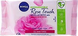 Voňavky, Parfémy, kozmetika Obrúsky na odstranenie make-upu s ružovou vodou - Nivea Micellair Skin Breathe Makeup