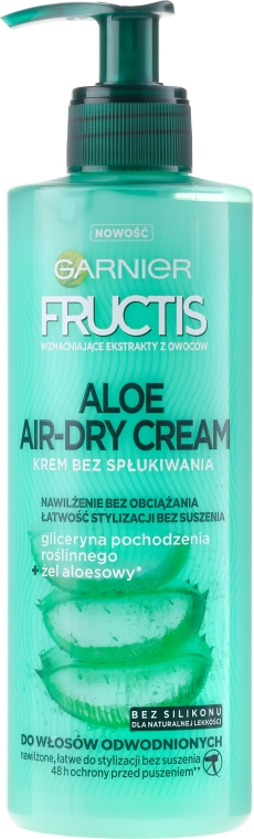 Krém na vlasy - Garnier Fructis Aloe Air-Dry Cream