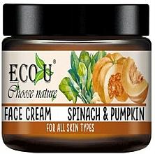 """Voňavky, Parfémy, kozmetika Krém na tvár """"Tekvica a špenát"""" - Eco U Pumpkins And Spinach Face Cream"""