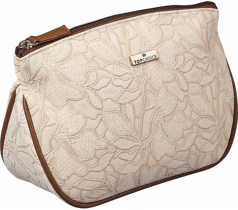"""Dámska kozmetická taška """"Lace"""", 98604, svetlohnedá - Top Choice — Obrázky N1"""
