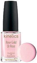 Voňavky, Parfémy, kozmetika Zosilňovač nechtov - Kinetics Rose Gold Hardener