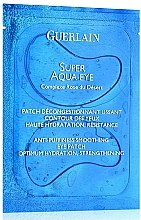 Voňavky, Parfémy, kozmetika Maska-náplasť na pokožku očného okolia - Guerlain Super Aqua-Eye Anti-Puffness Smoothing Eye Patch