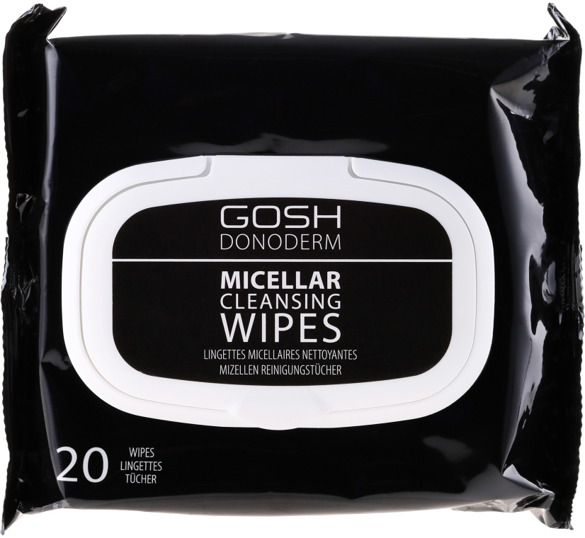 Micelárne make-up obrúsky - Gosh Donoderm Micellar Cleansing Wipes