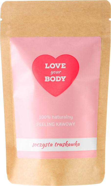 "Telový peeling káva ""Šťavnaté jahody"" - Love Your Body Peeling"