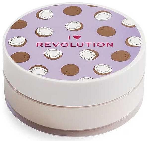 Sypký púder na tvár kokosový - I Heart Revolution Loose Baking Powder Coconut