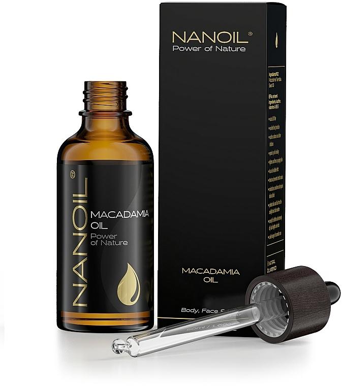 Makadamiový olej - Nanoil Body Face and Hair Macadamia Oil — Obrázky N3
