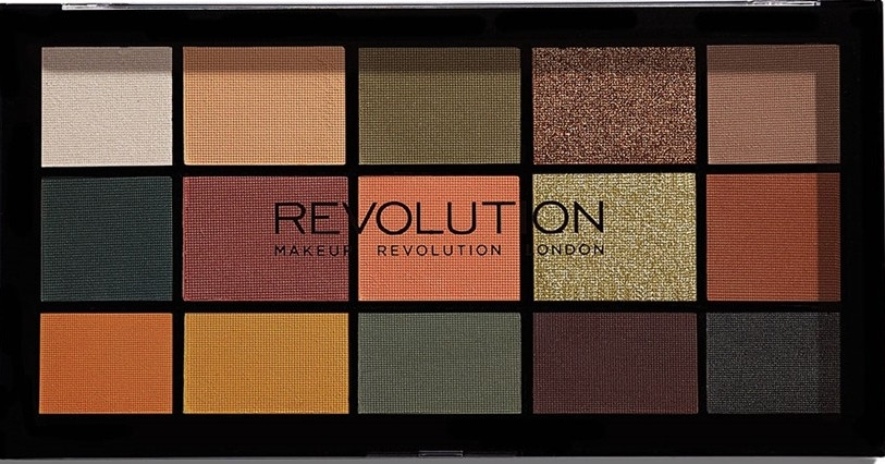 Paleta tieňov na viečka - Makeup Revolution Division Re-loaded Palette
