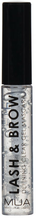 Gél na obočie a riasy - MUA Lash & Brow Clear Mascara