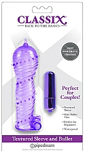 Voňavky, Parfémy, kozmetika Sada pre pár, fialová - Pipedream Classix Textured Sleeve & Bullet