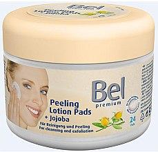 Voňavky, Parfémy, kozmetika Vlhčené odličovacie tampóny s jojobou - Bel Premium Peeling Lotion Jojoba Pads
