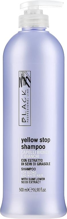 Šampón proti žltnutiu pre sivé, zosvetlené vlasy - Black Professional Line Yellow Stop Shampoo