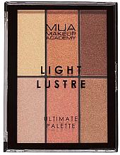 Voňavky, Parfémy, kozmetika Paleta na líčenie - MUA Light Lustre Ultimate Palette Bronze, Blush, Highlight