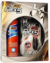Voňavky, Parfémy, kozmetika Sada - Bic Flex 5 Comfort (razor/3pcs + foam/200ml)