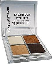 Voňavky, Parfémy, kozmetika Štvorfarebné očné tiene - Benecos Natural Quattro Eyeshadow