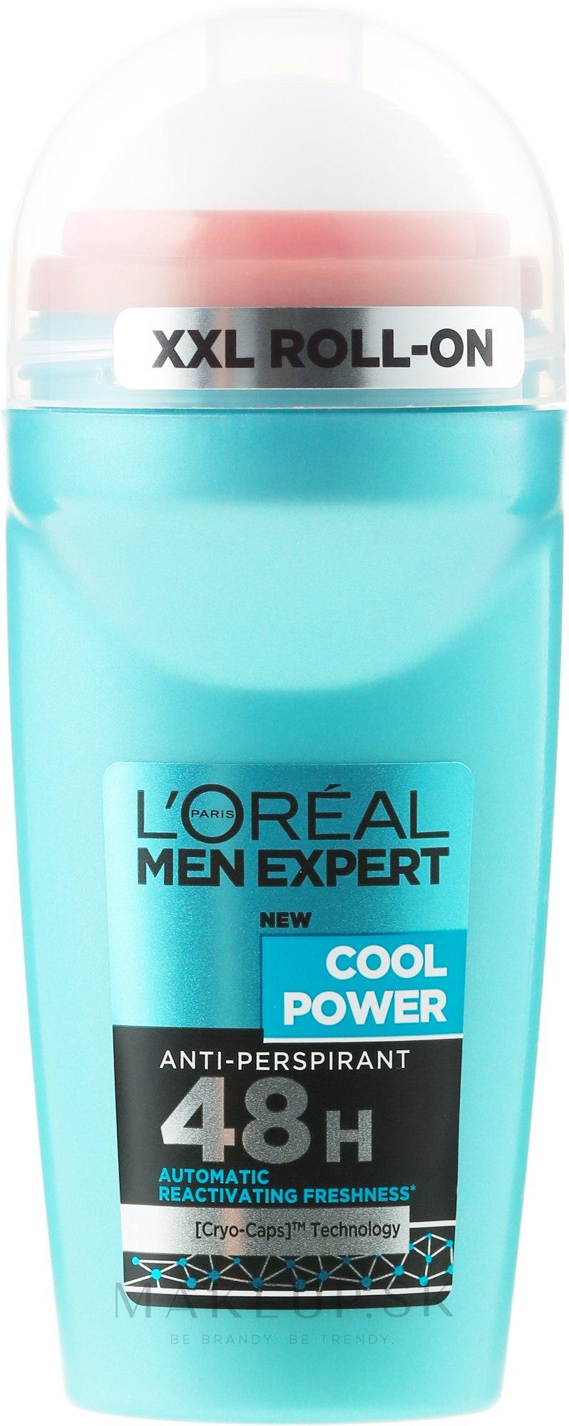 Guľôčkový deodorant - L'Oreal Paris Men Expert Cool Power Deodorant Roll-on — Obrázky 50 ml