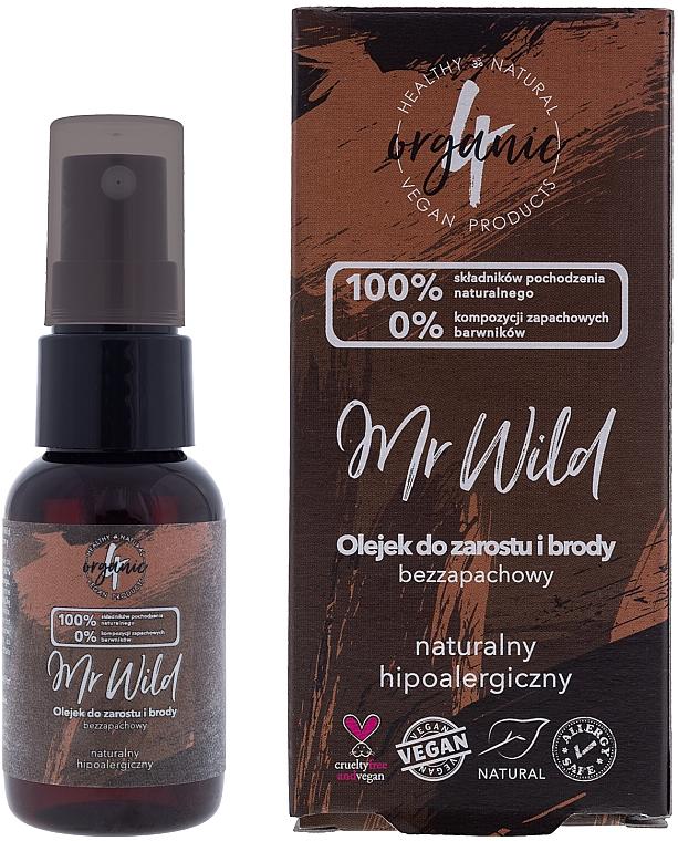 Olej na vlasy a bradu, bez zápachu, hypoalergénny - 4Organic Mr Wild