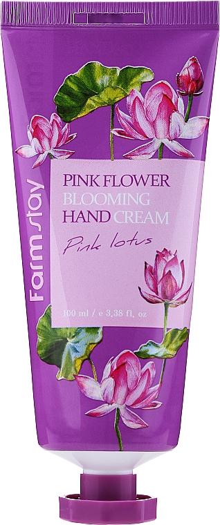 Krém na ruky Ružový lotos - FarmStay Pink Flower Blooming Hand Cream Pink Lotus