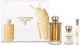 Voňavky, Parfémy, kozmetika Prada La Femme Prada - Sada (edp/100ml + b/lot/100ml + edp/mini/10ml)