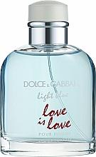 Voňavky, Parfémy, kozmetika Dolce & Gabbana Light Blue Love is Love Pour Homme - Toaletná voda