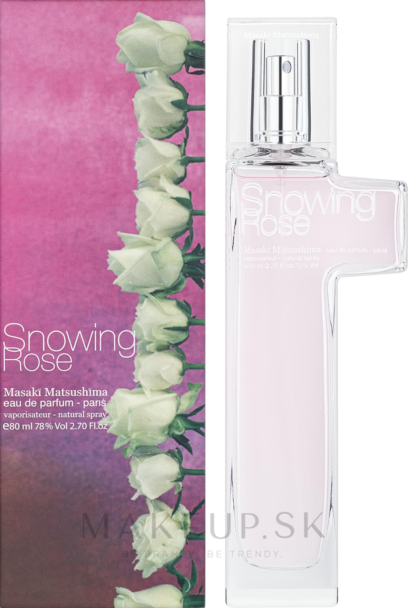 Masaki Matsushima Snowing Rose - Parfumovaná voda — Obrázky 80 ml