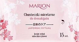 Voňavky, Parfémy, kozmetika Utierky na odstránenie make-upu s tváre, očí a krku, 15ks - Marion Japanese Ritual Micellar Wipes Make-Up Removal