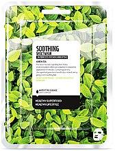 """Voňavky, Parfémy, kozmetika Textilná maska na tvár """"Zelený čaj"""" - Farmskin Superfood For Skin Soothing Sheet Mask"""