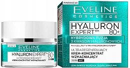 Voňavky, Parfémy, kozmetika Denný a nočný spevňujúci koncentrovaný krém - Eveline Cosmetics Hyaluron Expert 80+