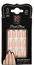 Voňavky, Parfémy, kozmetika Sada umelých nechtov - Sosu by SJ False Nails Long Stiletto Peach Please