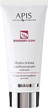 Voňavky, Parfémy, kozmetika Gél maska na tvár s lyofilizovaných malín - Apis Professional Raspberry Glow Freeze-Dried Rasberry Gel Mask