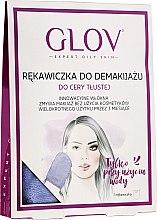Voňavky, Parfémy, kozmetika Rukavička na odstráňenie make-upu, fialová - Glov Expert Oily and Mixed Skin